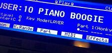 Roland XP-80 Custom (Negative) LED Graphic Display !