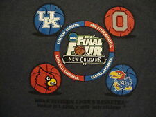 NCAA Final Four College University Basketball Fan 2012 New Orleans T Shirt L