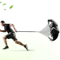 57 in Speed Training Aids Resistance Parachute Black Chute Power For Running New