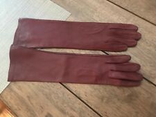 Mark and Graham Italian Leather Opera Bright-Toned Women's Gloves size 6.5  NWOT