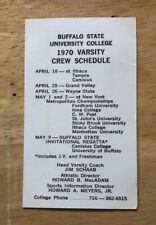 RARE 1970 Buffalo State College Crew Rowing Pocket Schedule Team Photo on Back