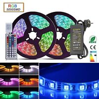 1m-30m 5050 LED Stripe RGB Leiste Streifen Band Mehrfarbig Leuchte Lichterkette