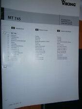 VIKING tracteur tondeuse MT745 MT 745 : catalogue de pièces 2003