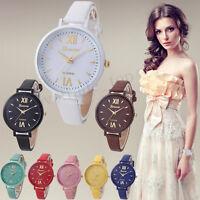 Fashion Women Men Roman Leather Watch Analog Quartz Casual Wrist Watch US