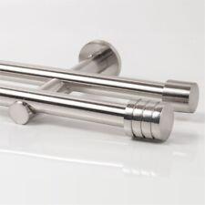 110 - 600cm Vorhang Gardinenstange zweiläufig Edelstahl Design 20mm (Zylinder 3)