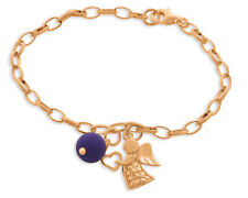 Engel Armband mit Perle Armband mit Schutzengel Lavaperle Armband rosé vergoldet