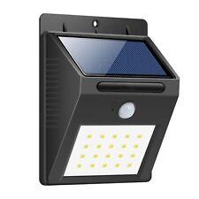 Foco Solar Luces Solares 20LED 1200mAh Lámparas Solares con Sensor de Movimiento