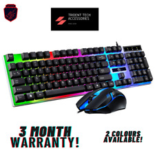LED GAMING KEYBOARD AND MOUSE SET USB WIRED FOR PC/XBOX/LAPTOP/PS4