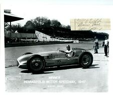 Authentic Autographed Mauri Rose cut+ 8x10 Photo-1947&48 Winner- Indy 500 Signed