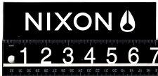 NIXON WATCHES BLACK STICKER Nixon Skate Surf Snow 7 in x 1.75 in Decal