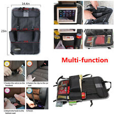 1X Multi-Pocket Car Seat Back Storage Bag Organizer Kick Mat for Baby Travel