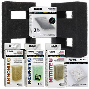 Fluval Spec & Flex Filter Media Carbon Biomax Foam Block Multi Pack Fish Tank