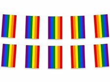 5m Rainbow Bunting Polyester Fabric Gay Pride LGBT Pennant Flag Festival Party
