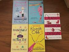 COZY MYSTERY BOOKS LOT OF 5 Fashion Theme Nancy Martin, Leslie Caine...Paperback