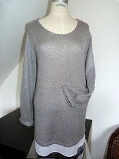 NEU !! Tolle Winter Pullover mit Chiffonsaum Marke C&A, 2-in-1-Optik , Gr. 46 48