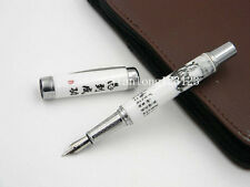 Jinhao Blue and White Porcelain With Horse Painting Medium Nib Fountain Pen