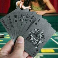 Waterproof Black Diamond Poker Creative Playing Cards Tricks Q9Q9 New Tool E1S7