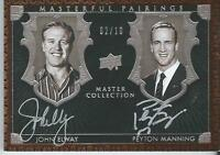 2016 UD All Time Greats Master Collection MANNING DUAL ELWAY Autograph 02/10