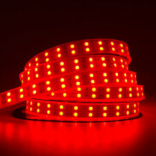 Red Dual Double Roll 5M 600Leds 5050 Led Strip Lights Lamp IP67 Waterproof Fairy
