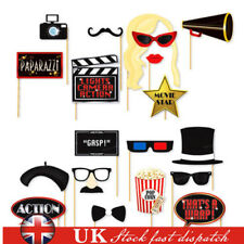 18x Oscars Photo Booth Selfie Props Movie Hollywood Awards Party Decoration UK