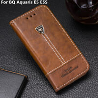 Silicone Phone Case Leather Flip Stand Holder Cover 5.0'' For BQ Aquaris E5 E5S