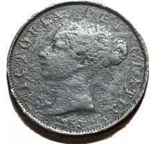 UK 1853 Half Penny Victoria 1st portrait KM #726 Free Shipping