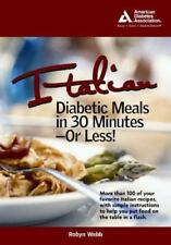 Italian Diabetic Meals in 30 Minutes or Less!-ExLibrary