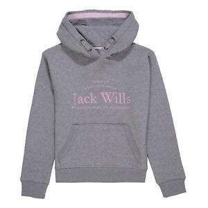 Jack Wills Script Hoodie Girls OTH Hoody Hooded Top Kangaroo Pocket