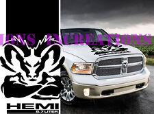 Hemi 5.7l Dodge Ram Hood Stripe Truck Decals Mopar Stickers Racing Graphics