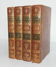CERVANTES, Histoire de l'Admirable Don Quichotte de la Manche (4 vol.), 1798