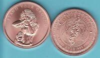 CROWN CHAKRA  1 oz Copper Round  MINI MINTAGE  #76 Silver Shield  2018