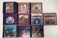 10 Grateful Dead CDs Lot Anthem American Beauty Shakedown Terrapin Garcia Band