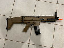 New listing FN Scar-L Spring Powered Airsoft Rifle shooting Tan 300 FPS single shot