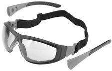 Elvex Go-Specs II Safety Glasses Black Frame, Foam Seal Clear Anti-Fog Lens