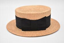 Ancien chapeau canotier de paille maitre chapelier Sools vers 1900 1920