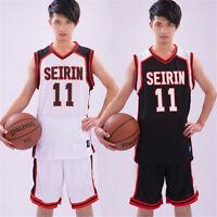 2PCS Kuroko's Basketball SEIRIN Kuroko Tetsuya Kagami Taiga Cosplay Vest Jersey
