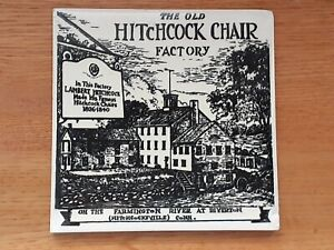 """HITCHCOCK CHAIR FURNITURE FACTORY 6""""X""""6 TILE.  GOOD CONDITION."""