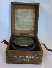 Ancienne boussole militaire Compas A.M. PII / WW2 / Coffret AZIMUTH CIRCLE N°4