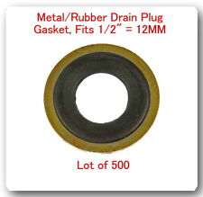 500 PCS Metal & Rubber GM Oil Drain Washer Gasket 12mm (Black)GM 14090908