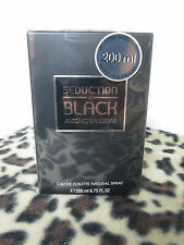 SEDUCTION IN BLACK  ANTONIO BANDERAS MEN 6.8 / 6.7 OZ / 200 ml  SPRAY COLOGNE