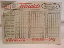 Vecchia schedina TOTOCALCIO Concorso 12 febbraio 1956 23 Lenti Perugina Recoaro