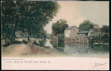 WARREN PA Along the Old Mill Race Antique Rotograph Postcard Vtg 1907 Old PC