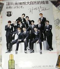 """EXO NATURE REPUBLIC 2013 Korea Promo Giant Poster (EXO-K EXO-M) 33""""X23"""""""