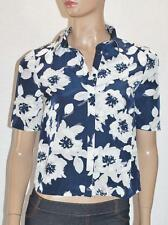City Dressing Brand Navy Floral Short Sleeve Shirt Top Size 6 BNWT #sq40
