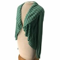 Anthropologie Angel of the North Flowy Cardigan Sweater Mint Green S Minor Flaws