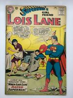 LOIS LANE #39 1963 DC COMIC SILVER AGE THE GIRL WHO HATED SUPERMAN!