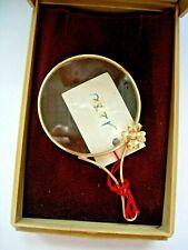 Belle loupe monocle de poche bureau MAGNIFYING GLASS optical  fleur trefle 4