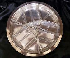 V Zwanenburg Rotterdam Hutschenreuter Silver Plated Glass Insert Art Deco Tray