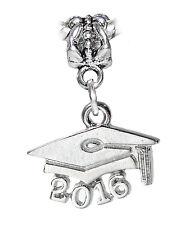 2016 Graduate Cap Hat Graduation Gift Dangle Charm for European Bead Bracelets