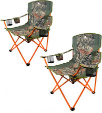 Oversized Quad Chair Set of 2 Camouflage Hunting Camping Hiking Bird Watching
